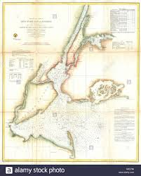 Preliminary Chart Of New York Bay And Harbor English A
