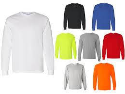 Long Sleeve T Shirts Gildan G5400 Adult Unisex 5 3 Oz Heavy Cotton 8 Colors Available 5045