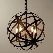 orb chandelier large wooden with crystals crystal sphere plus