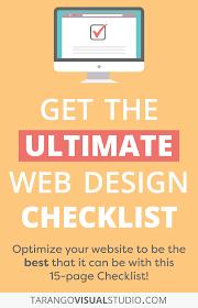 Web Design Checklist The Ultimate Web Design Checklist Tarango Visual Studio
