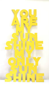 you are my sunshine wooden sign plaque