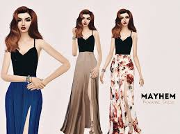 Roxanne Dress - The Sims 4 Catalog | Sims 4 clothing, Dresses, Kawaii dress