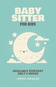 Babysitter Flyer Maker Online Flyer Maker For Babysitters 349