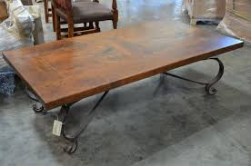 wood and wrought iron furniture. Coffee Tables, Brilliant Brown Rectangle Rustic Wood Wrought Iron Table Design Ideas High Definition And Furniture