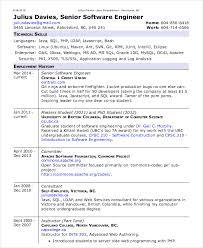 Software Engineer Resume Example Spectacular Sample Resume Senior