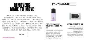 receive your choice of 30 pc gift with your 50 mac cosmetics purchase