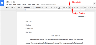 mla format using google docs org googledocs firstpage mla