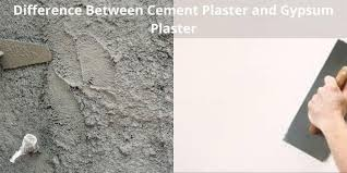 difference between cement plaster and