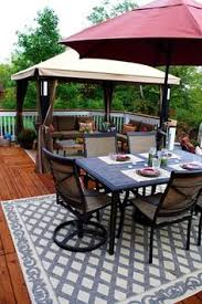 patio deck decorating ideas. Hubs Has Wanted A Gazebo \u2013 And He Got His Wish This Year. ;) We Found One  For Steal At Sears Earlier Summer: Patio Deck Decorating Ideas D