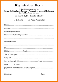 Forms For Word Registration form template optional print forms word business 76