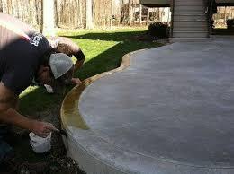 plain concrete patio. Stained Concrete Patios | Reactive Acid Stain Transforms A Plain Patio