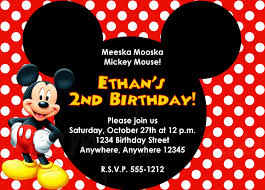 mickey mouse template for invitation com mickey mouse birthday invitation card template photo album