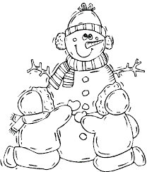 Familly Snowman Winter Coloring Pages Coloring Pages For Kids