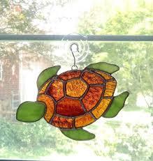stain glass turtle stained glass turtle turtle ornament beach decor coastal decor sea creature easy turtle