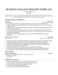 Sample Business Analyst Resume Musiccityspiritsandcocktail Com