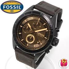 fossil ch2804 decker leather vintaged bronze mens watch fossil fossil ch2804 decker leather vintaged bronze mens watch