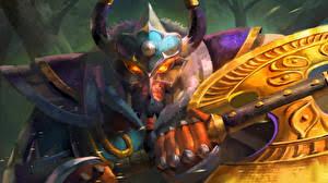 photos dota 2 centaur warrunner centaurs battle axes horns fantasy