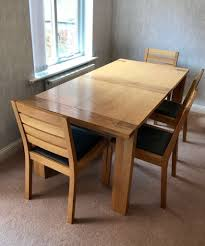 table 4 chairs and bench. m\u0026s sonoma oak extending dining table - 4 chairs bench and