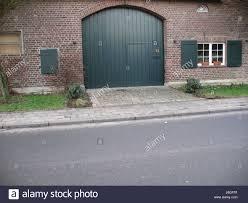 Garage Backstein Scheune Klinker Kreisbogen Garage Tür Haus Gebäude
