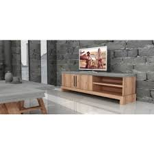 modern wood tv stand. modrest civic modern concrete \u0026 acacia tv stand wood tv