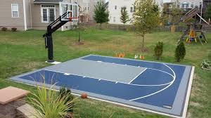home basketball court design. Backyard Basketball Court Size Home Design L