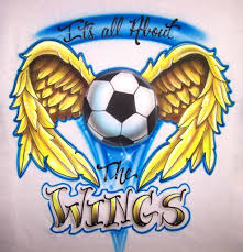Airbrush Designs Custom Soccer Football Airbrushed Shirt Designs