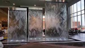 Custom Glass Water Walls Indoor Waterfalls Unique Indoor