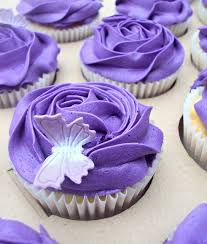pretty purple cupcake. Delighful Purple Purple Cupcakes With Butterfly Throughout Pretty Cupcake