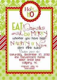 Amazing Christmas Dinner Party Invitation Wording Idea Red Greeb ...