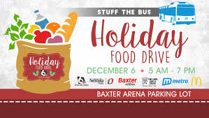 Food Drive Posters Stuff The Bus Holiday Food Drive