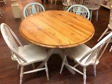 shabby chic dining sets. Shabby Chic Solid Pine Round Dining Table And 4 Chairs Sets