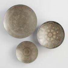 zinc and gold metal etched disc wall art set of 3 on metal lettering wall art with wall d cor modern wall d cor wall decorations world market
