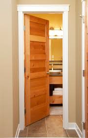 wood interior doors with white trim. 5 Panel Mission Style Door, Also Example Of Wood Door With White Trim Interior Doors