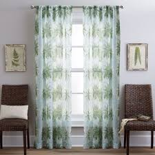 Palm Trees Sheer 84-inch Curtain Panel Pair - 84-inch Panel Pair ...