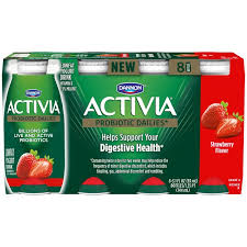 activia strawberry yogurt drink dannon activia probiotic dailies strawberry lowfat yogurt drink