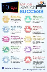 infographic tips for job search success sterling career concepts infographic 10 tips for job search success