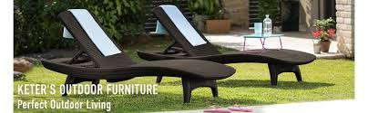image outdoor furniture chaise. Keter Outdoor Resin Plastic Patio Garden Furniture Table And Chairs Image Chaise N