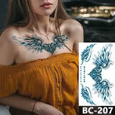 1 лист грудь тело татуировки временные водонепроницаемые бижутерия сердце замок