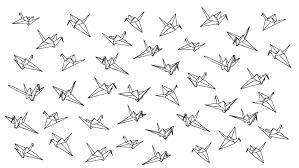 Paper Crane Size Chart Paper Crane Drawing Google Search Paper Crane Tattoo