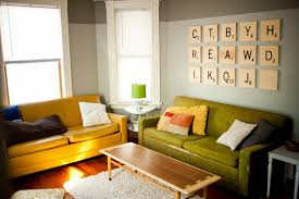 ... Adorable Wall Decoration Using Scrabble Wall Letters : Outstanding Living  Room Decoration With Scrabble Wall Letters ...