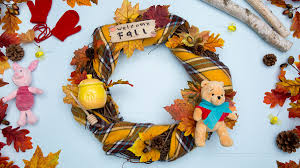 welcome fall with a diy winnie the pooh wreath