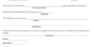 Charitable Contribution Receipt Template