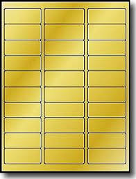 Avery 30 Label Template 600 Metallic Gold Foil 2 5 8 X 1 Laser Only Address Labels Use Avery 5160 Template 20 Sheets With 30 Labels Per Sheet