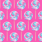 pink lollipop wallpaper. Perfect Lollipop Whirly Pops  Purple And Blue On Pink Lollipop Fabric Wallpaper  Littlearrowdesign Spoonflower Inside Pink Lollipop Wallpaper K