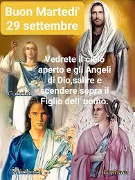 Angel love angel love angel - SANTO VANGELO MARTEDI' 29 SETTEMBRE Vedrete  il cielo aperto e gli angeli di Dio salire e scendere sopra il Figlio  dell'uomo. + Dal Vangelo secondo Giovanni