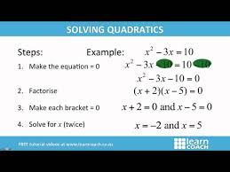 ncea maths level 1 algebra solving quadratics
