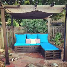unique pallet patio furniture made by newlyweds drew alicia out of for outdoor furniture made from pallets