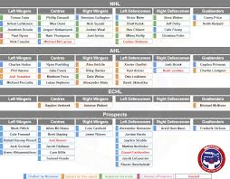 Montreal Canadiens Depth Chart Montreal Canadiens 2019 20 Organizational Depth Chart Eyes