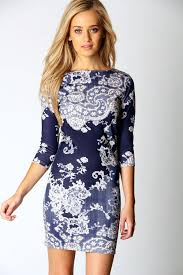 Long Sleeve Floral Bodycon Dress Size 10