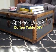 steamer trunk coffee table uk plans diy